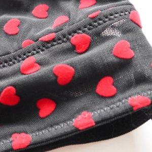 Forever 21 Intimates & Sleepwear - Forever 21 Sheer Felted Heart Valentine Bralette